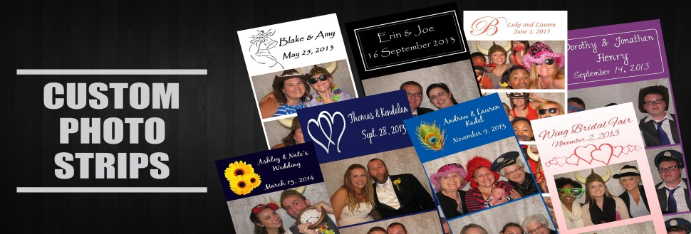 Get custom photo strips from Say Cheez Photo Booth - Lawrence.