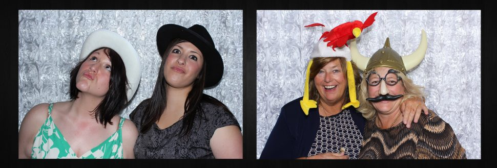 Open Concept Photo Booth from Say Cheez Photo Booth - Lawrence with White Rosette