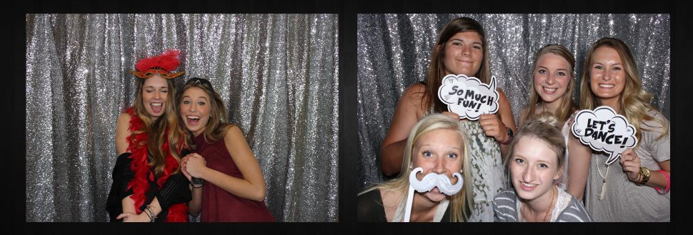 Open Concept Photo Booth from Say Cheez Photo Booth - Lawrence with Silver Sequin